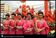 Candle Festival parade at Ubon Thailand - Made the big Candles trip_139