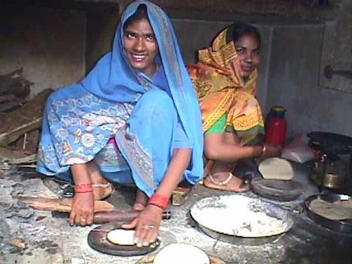 Renu in village kitchen