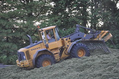 Volvo L90 E Loader working the Silage Pit (Shane Casey CK25) Tags: county ireland winter horse irish green field grass work clamp volvo cow hp power cattle cows cut farm cork farming working harvest pit e cutting land feed farmer agriculture dairy loader silage pulling contractor bail harvester fermoy forage fodder corrin agri l90