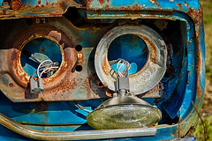 "June 2014, Digital, Intermediate Class, ""Rusted And Busted"" (VirtualMirage) Tags: cars rust sony junkyard tamron 90mm hdr tamron90mm a77 cameraclub tamronspaf90mmf28di 90mmmacro slta77"
