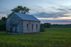 Sunset Shack (T-3 Photography) Tags: old sunset sky building abandoned architecture clouds rural canon 50mm prime virginia country faded va valley winchester shenandoahvalley frederickcounty primelens niftyfifty rurex 5dmarkii