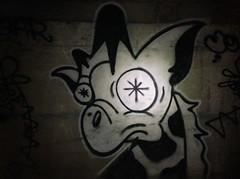 Girafa (always_exploring) Tags: art dark graffiti low tunnel explore bayarea spraypaint giraffe graff 2008 rare girafa urbex tbtk bayareagraffiti longneck4life
