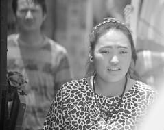 couple ([s e l v i n]) Tags: street light portrait people bw woman india man window lady couple market candid streetphotography series himachal dharamshala himachalpradesh kangra photoseries ©selvin