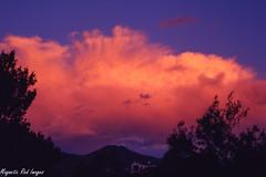 Thunder Sunset (magnetic_red) Tags: clouds sunsets thunderstorm redsky expiredfilm vividcolors kodakektachrome100vs zenzabronicas2a ilobsterit