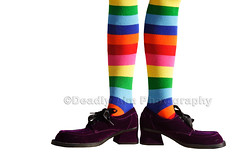 Clown Feet Isolated (Brenda Carson_songbird839) Tags: birthday blue costumes red party orange green feet halloween stockings yellow fun foot shoe costume big sock shoes funny long purple legs clown leg stripe large whitebackground stocking oversized clowns onwhite isolated striped suede chunky kneehis kneehi