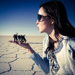 I'm blown away (MastaBaba) Tags: cute girl face giant blowing bolivia blow uyuni potosidepartment 20140619