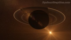 Saturn Backlit Illustration