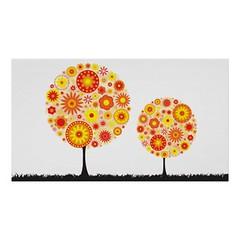 Print - Flower Wishing Tree Orange (Photography By Pixie) Tags: orange flower tree print poster photography fineart wishing