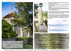 Naval Memorial at St Mary's, Sullington (Art's Eye photographic©) Tags: church memorial warmemorial greatwar epitaph 19141918
