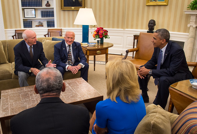 President Obama Meets with Crew of Apollo 11 (201407220001HQ)