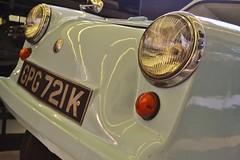 Glasgow Riverside Museum Retro Car (Michelle O'Connell Photography) Tags: museum vintage scotland automobile riverside glasgow transport retro nostalgia 70 partick plasticpig noddycar acmodel invalidtricycle michelleoconnellphotography gpg721k weebluey weebluecar