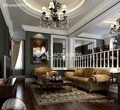Thiết kế nội thất phòng khách tân cổ điển_004