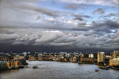 The Rain Must Return To The River (Dimmilan) Tags: uk england sky urban london water thames architecture clouds river cityscape galleryoffantasticshots
