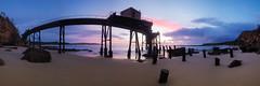 Bend It (Torkn2U) Tags: ocean panorama seascape beach sunrise dawn pano jetty australia wharf newsouthwales coal catherinehillbay