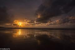 Beach storm (IrreBerenT) Tags: sunset sky sun nature clouds coast nubes reflejo ocaso cantabria cantabrico sanvicentedelabarquera beachstorm irreberente