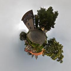 ΑΡΙΣΤΟΝ ΜΕΝ ΥΛΩΡ (diwan) Tags: canon germany geotagged roundabout explore magdeburg planet 2014 ptgui equirectangular wehrturm fürstenwall geo:lon=11635849 geo:lat=52123825