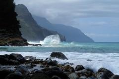Haena-State-Park_Kauai-HI_03-02-2007yy (Count_Strad) Tags: park beach island hawaii surf waves scenic wave kauai haena haenastatepark