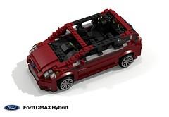 Ford C-Max Hybrid (2013) (lego911) Tags: auto life usa ford car america wagon real model lego render company sync motor inlaws hybrid challenge motherinlaw 82 cad irl lugnuts povray c1 moc fna atkinson ldd miniland 2013 cmax lego911 lugnutsirl