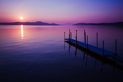 End of Summer (Robert Clifford) Tags: summer sun lake water sunrise cool dock day august clear lakewinnipesaukee cooltone