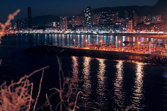 Benidorm (Sara Garca.) Tags: sea party summer vacation espaa beach beautiful night photoshop canon landscape photography eos noche photo amazing nice spain holidays paradise mediterranean photographer place picture happiness pic alicante mediterrneo benidorm tripode alacant