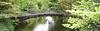 Iron prefab (beqi) Tags: bridge trees panorama history architecture arch ironwork distillery photoshoppery 2014 cambus alloa riverdevon