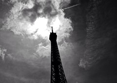 Eiffel Tower Sky Streaks
