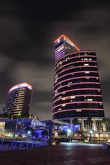 Intercontinental (Vetto) Tags: longexposure light architecture night hotel nikon dubai uae luci notte architettura intercontinentalhotel esposizionelunga festivalcity