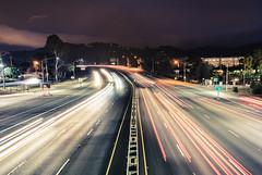 Just Passing By (YoitsTmac) Tags: california longexposure blue cars car cali night nikon 101 freeway d5100 nikond5100