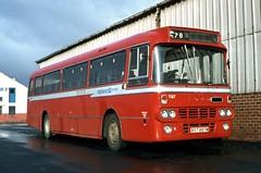Highland T87 Wick Bus Station October 1981 (return2layerroad) Tags: scotland alexander wick caithness highlandomnibuses fordr1114