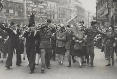 VE CELEBRATIONS IN LONDON (State Library Victoria Collections) Tags: flag australia flags flagday statelibraryofvictoria