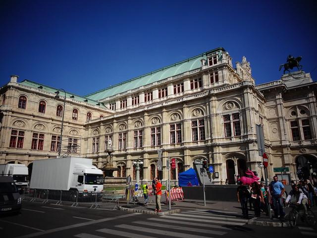 Wien, 1. Bezirk, Wiener Staatsoper, Ópera Estatal de Viena, Lopéra d'État de Vienne, Vienna State Opera, Opera Wiedeńska (Opernring/Operngasse)