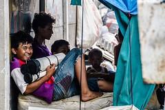Smile in Irony1 (s.janesukardi) Tags: people smile children indonesia photography living documentary railway human jakarta tragedy irony pademangan