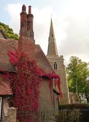 Autumn Time Longstanton Sept 2014 (symonmreynolds) Tags: autumn red church september leafs 2014 longstanton