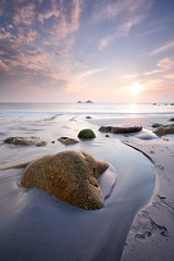 Porth Nanven (Stu Meech) Tags: sunset rock river evening nikon cornwall tide low hard line porth lee filters grad lead nanven 06nd d300s