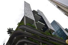 New Bridge Rd Singapore (DennisGRILLT) Tags: road new city travel bridge sky urban plants building june gardens modern skyscraper buildings nikon singapore asia asien skyscrapers traveling architects singapur rd singapura hochhaus parkroyal 2014 woha d7000