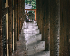 Leading to Enlightenment (Scott Rotzoll) Tags: lines temple meditate monk korea tradition enlightenment pillars gong haeinsa chiin templestay tripitaka