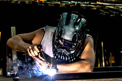 Welder (bastlabrit) Tags: metal skull iron steel arc worker welder soudure k30 soudeur