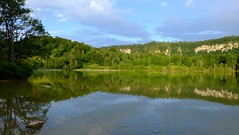 Un soir au bord du lac -* (Titole) Tags: sky lake reflection water jura lacs ilay lacdilay thechallengefactory titole nicolefaton