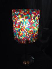 Runde LED Lampe eingeschaltet