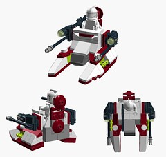 Microfighter IFT-X (E-Why) Tags: lego star wars clone moc microfighter