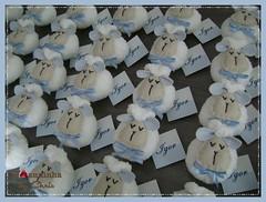 lembrancinhas (Joanninha by Chris) Tags: feitoamao handmade ovelhinha enxovalmenino lembrancinhas menino azul bege artesanato