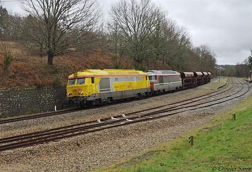 """UM de BB 67000 avec le """" Pagnac """" à Verneuil-sur-Vienne (87)"""