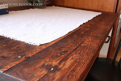 2017 0311 Rustic Farm Table _ Full Size-3 (Phoenix Restoration   Furniture by Christina) Tags: phoenix restoration general finishes farmhouse rustic tung oil