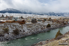 Gardiner, Montana (kevin-palmer) Tags: montana winter february cold snow snowy nikond750 tamron2470mmf28 gardiner yellowstoneriver flowing water cloudy overcast gallatinrange
