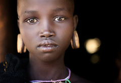 Etiopia (mokyphotography) Tags: etiopia southetiopia africa mursi woman donna people portrait persone ritratto tribù tribe tribal travel eyes ethnicity etnia ethnicgroup occhi omovalley omoriver omo valledellomo magopark