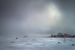 Ice Fishers (Jyrki Salmi) Tags: jyrki salmi kotka finland äijänniemi winter ice cloudy day