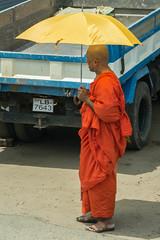 Monk with Parasol, Kandy, Sri Lanka (Peter Cook UK) Tags: sri lanka monk kandy orange parasol