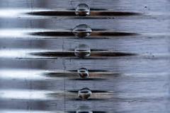 You say tomato (LoomahPix) Tags: can closeup droplet droplets macro macromondays macrophotography madeofmetal metal reflctive ridges silver 7dwf