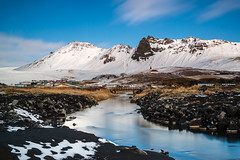 A place to pray (Ian Allon) Tags: iceland vík southernregion is longexposure river landscape mountains water clouds movement church snow ice