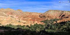 At Ibriren (dieLeuchtturms) Tags: panorama horizontal dessert oasis morocco maroc atlas afrika marokko 2x1 wste oase querformat gorgesdudades hoheratlas palmenhain soussmassadra dadestal soussmassadra atibriren